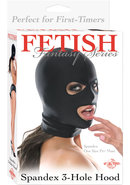 Fetish Fantasy Spandex 3 Hole Hood Black